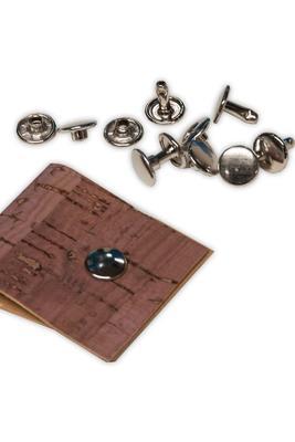 100 Stk Doppelhohlnieten Silber, 10,5mm, für Presse