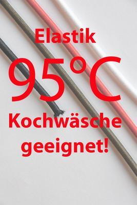 2 mm Elastische Kordel 95°C, Gummikordel