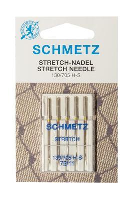 5 Stk. Nr. 75 Stretch Nähmaschinennadeln Schmetz