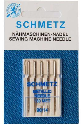 5 Stk. Nr. 90 Metallic Nähmaschinennadeln Schmetz
