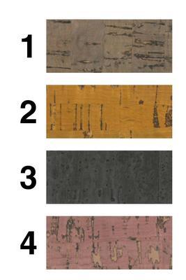 81 Naturkorkstoff, eingefärbt breite 50x140cm
