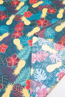 """""""Ananas & Hibiskus"""", Acryl- und Teflonbeschichtet, 180 g/m2"""