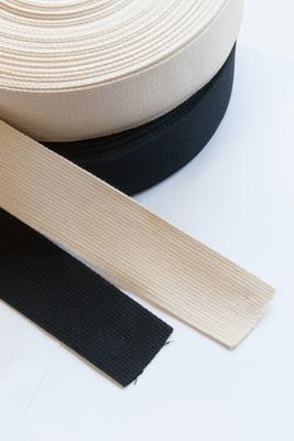 Baumwoll Gurtband 25 mm, 25 m Rolle
