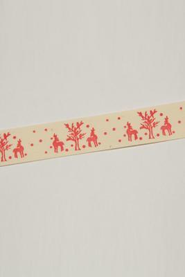 Baumwollband 20mm mit Weihnachtsdruck, Meterware