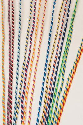 6 mm, gedreht, Baumwollkordel Multicolor