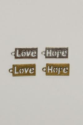 Charm Love / Hope, 11x23mm