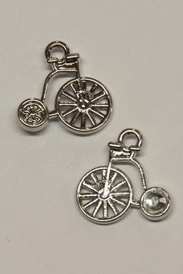Charm antikes Fahrrad, 16x16mm