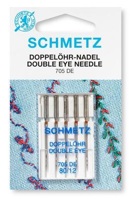 Doppelöhr-Nadel 5 Stk 130/705 Nähmaschinennadeln Schmetz