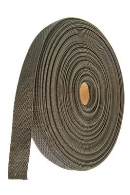 25 mm, 25 m Rolle, Schwarz, Einfassband