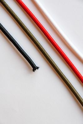 3 mm, Meterware, Elastische Kordel, Gummikordel