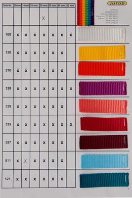 Farbkarte Gurtband