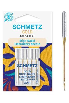 Gold Sticknadel 5 Stk. 130/705 Schmetz