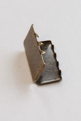 20 mm Gurtendstück für Gurtband, Metall Altmessing