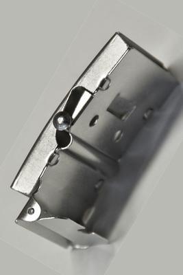 25 mm Gurtschnalle mit Koppelschloss Metall, silbrig