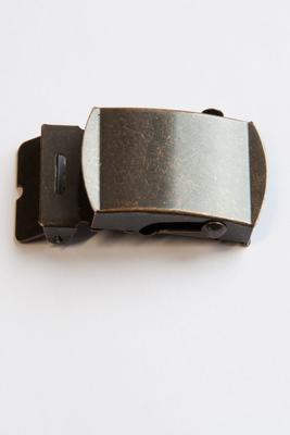 30 mm Gurtschnalle mit Koppelschloss Metall, altmessing