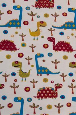 """Jersey """"Dinosaurier"""" Baumwollstoff 165cm"""