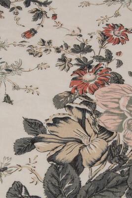Leinen Flower print 195g/m2