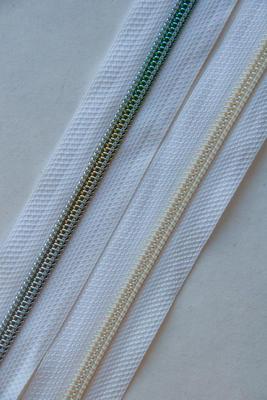 6,5 mm, weiss, Metallic Spirale, Reissverschluss