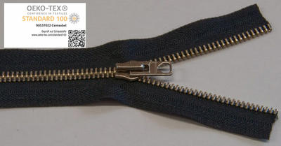 6 mm, schwarz, Metallreissverschluss