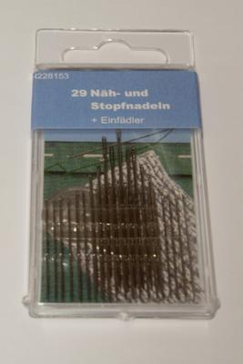 Näh- und Stopfnadeln mit Einfädler, sortiert Länge 33 - 60 mm 29 Stk.