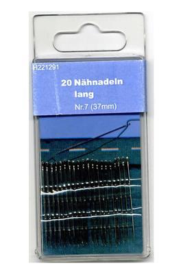 Nähnadeln Nr. 7 lang 37 mm 20 Stk.