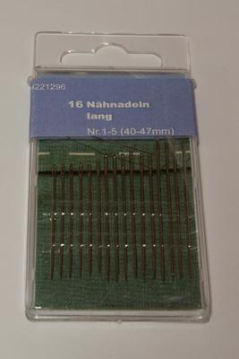 Nähnadeln Nr. 1 - 5 lang 40 - 47 mm 16 Stk.