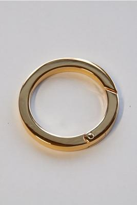 Ø 25 mm flach gold Ringkarabiner