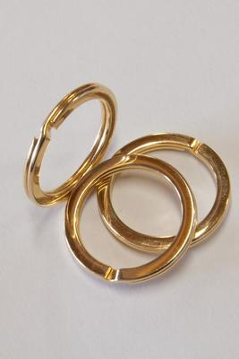 Schlüsselring Gold 28 mm, flach