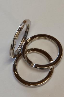 Schlüsselring Silber 28 mm, flach