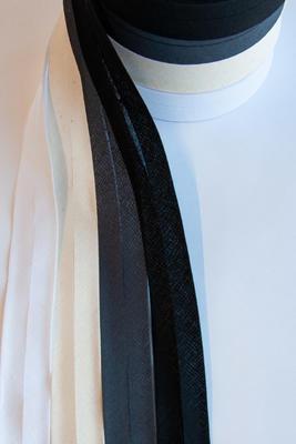 Schrägband 60 mm/30 mm, Baumwolle, 25 m Rolle
