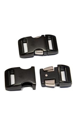 10 mm Steckschnalle Metall gebogen, schwarz