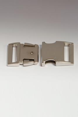 15 mm Steckschnalle Metall gebogen