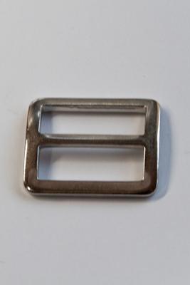 20 mm, mit festem Steg, Metall, Stegschnalle