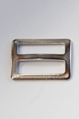 25 mm, mit festem Steg, Metall, Stegschnalle