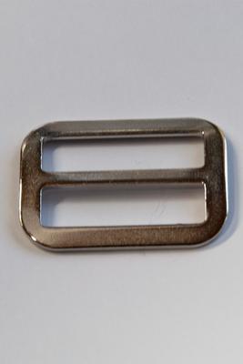 30 mm Stegschnalle Metal, mit festem Steg