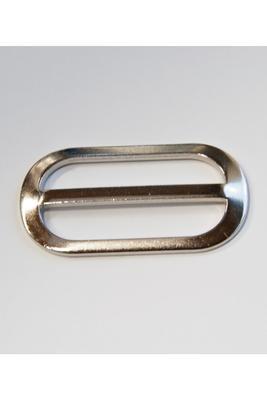 40 mm, mit festem Steg, Metall, Stegschnalle