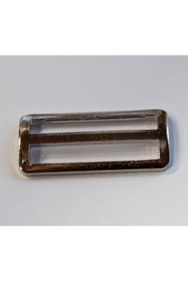 50 mm Stegschnalle mit festem Steg, Metall