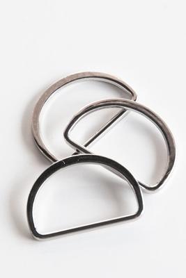 Taschen D-Ring 30 mm, silber glänzend