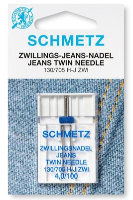 Zwillings-Jeans 1 Stk 130/705 Nähmaschinennadeln Schmetz