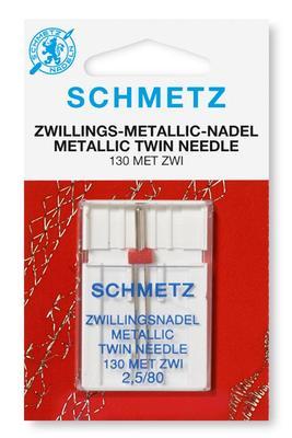Zwillings-Metallic 1 Stk 130/705 Nähmaschinennadeln Schmetz