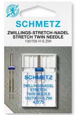 Zwillings-Stretch 1 Stk 130/705 Nähmaschinennadeln Schmetz