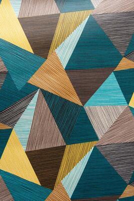 """gestreifte Dreiecke"", Acryl- und Teflonbeschichtet, 180 g/m2"
